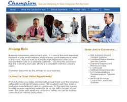 Link to Champion Sales Services, Inc. website